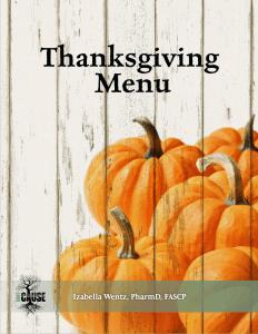 Hashimoto's Thanksgiving Menu