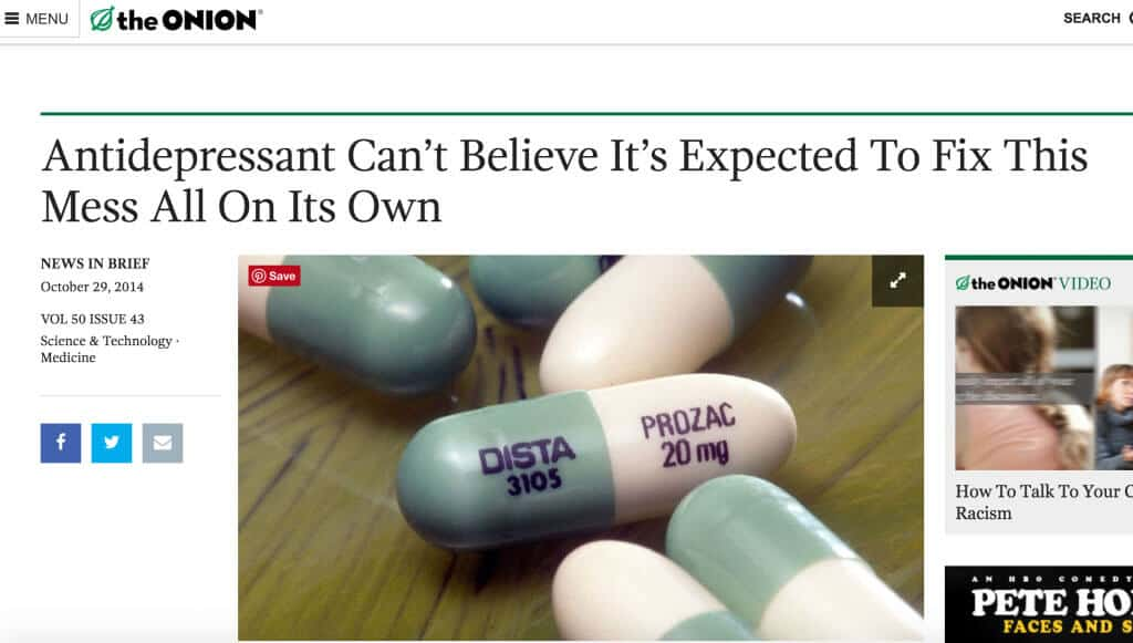The Onion Article: Antidepressants