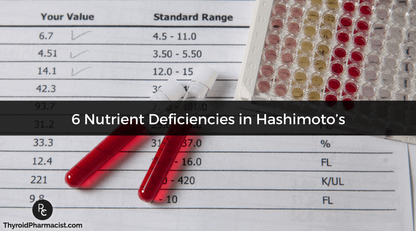 6 Nutrient Deficiencies in Hashimoto's