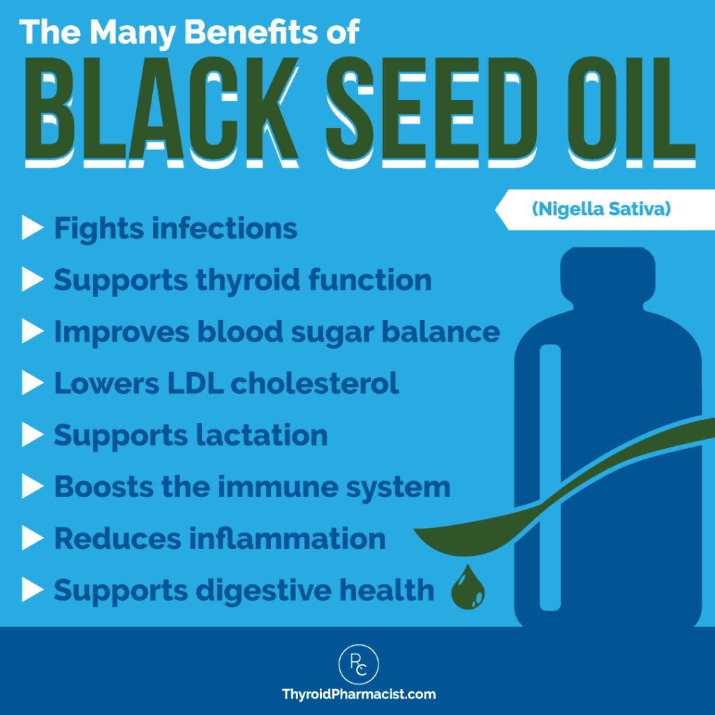The Many Benefits of Black Seed Oil Infographic
