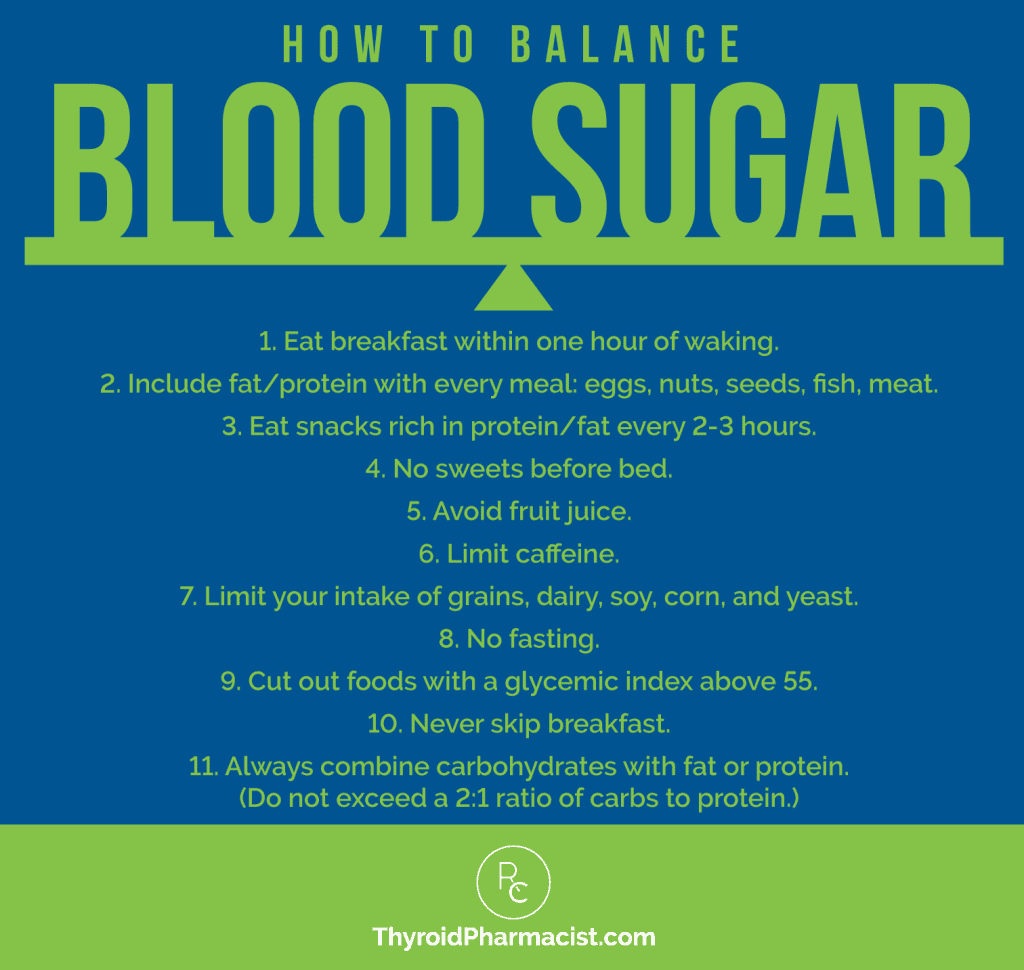 How to Balance Blood Sugar Infographic