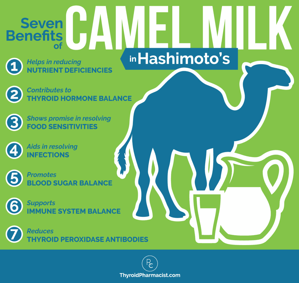 7 Benefits of Camel Milk Infographic