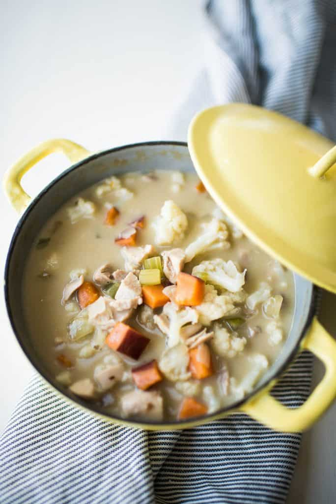 Creamy White Chicken Stew - Food Pharmacology Cookbook