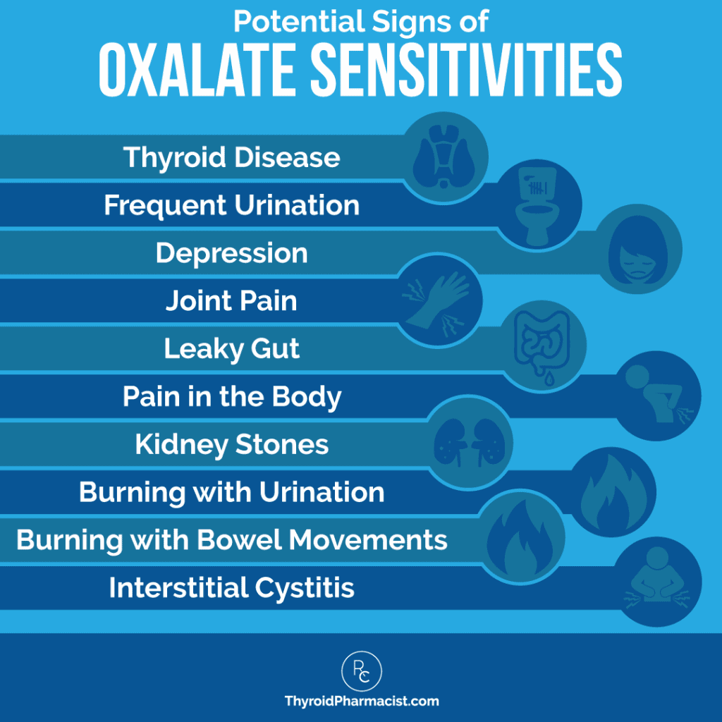 Potential Signs of Oxalate Sensitivities Infographic