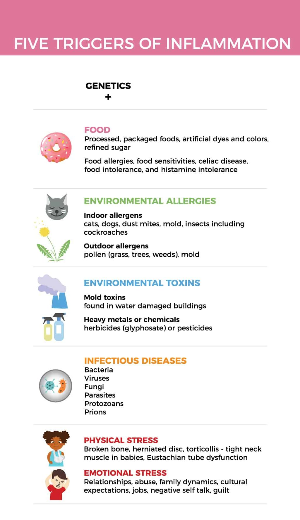 Five Triggers of Inflammation Infographic